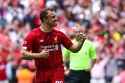 Bleibt Xherdan Shaqiri in Liverpool? (Robbie Jay Barratt/Freshfocus (London, 04. August 2019)
