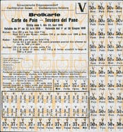 Rationierungskarte für Brot, gültig vom 1. bis 30. Juni 1919.