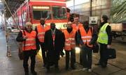 Eine Delegation der Bahnbetriebe der Elfenbeinküste sowie von Burkina Faso war bei den Appenzeller Bahnen. Bild PD