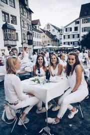 So sah das «Dîner en Blanc» in St. Gallen aus. (Bild: PD)