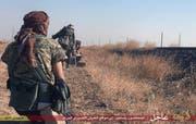 Kämpfer des «Islamischen Staates» in Syrien. (Bild: AP/Islamic State Militant Website)
