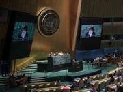 46 Staaten stehen hinter einem Uno-Abkommen zur künftigen Lösung von Handelsstreitigkeiten. (Bild: KEYSTONE/AP/BEBETO MATTHEWS)