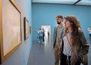 Marianna Iozzino und Alessandro Mazzoni studierten Kunst in Mailand und sind wegen Turner nach Luzern gekommen. (Bild: Corinne Glanzmann, Luzern, 7. August 2019)