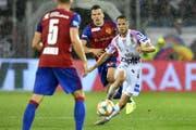 Der FC Basel lief dem meistens hinterher. (KEYSTONE/Walter Bieri)