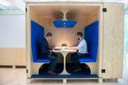 Lösungen für morgen: Blick in eine Arbeitsbox im Innovationscampus bei Bühler in Uzwil. (Bild: Urs Bucher)