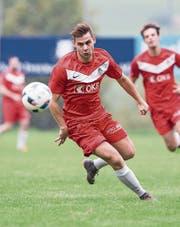 Jascha Joller wechselte vom FC Alpnach über die Kantonsgrenze zu Hergiswil. Bild: Manuela Jans-Koch (Adligenswil, 29. September 2018)