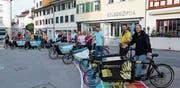 Die Lehrer begeben sich mit dem Velo auf einen Ausflug rund um Wil. Bild: Hans Suter
