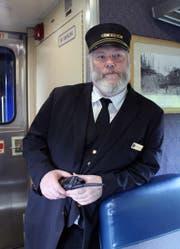 Zugführer George Huling ist im «Denali Star Train» für die Sicherheit zuständig. Bild: mauritius images