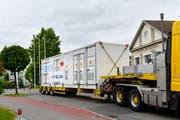 Zwei solche Container dienen künftig als Super-Batterie - unter anderem für überschüssigen Solarstrom. (Bild pd)
