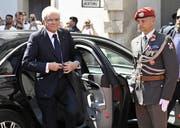 Am Zug: Italiens Staatspräsident Sergio Mattarella. (Bild: Keystone)
