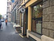 Das Schild hängt bereits – bis zur Eröffnung der neuen Pizzeria an der Frankenstrasse dauert es jedoch noch bis Mitte August. (Bild: Chiara Stäheli, 8. August 2019)