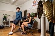 Patrick «Karpi» Karpiczenko und Natascha Beller: Beim Dreh ihres ersten Kinofilms profitierten sie von ihrer jahrelangen Fernseherfahrung. (Bild: Claudi Thoma, 6. August 2019)