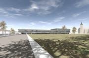 Visualisierung des neuen Stadthauses. (Bild: PD)