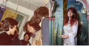 Jolanda Steiner früher im Blauringlager (linke Bildhälfte in der Mitte) und heute. (Bilder: PD)