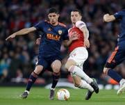 Der einflussreichste Schweizer in der Premier League: Granit Xhaka beim FC Arsenal (Keystone)