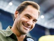 Fühlt sich im Moment pudelwohl und kann sich vorstellen, auch mit 40 noch zu spielen: Roger Federer in New York (Bild: KEYSTONE/EPA/JUSTIN LANE)