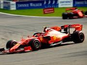 Ferrari-Fahrer Charles Leclerc feiert im GP von Belgien seinen ersten Sieg in der Formel 1 (Bild: KEYSTONE/AP/FRANCISCO SECO)