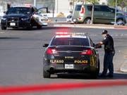 In der Stadt Odessa im US-Bundesstaat Texas hat sich am Samstag ein Schusswaffenangriff ereignet - es sind zahlreiche Opfer zu beklagen. (Bild: KEYSTONE/EPA/LARRY W. SMITH)