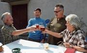 Bei schönem Wetter, wie hier 2018, wird das Herbstbierfest jeweils zu einem geselligen Grossanlass im Klosterhof. (Bild: Christoph Heer)