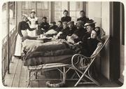 Tuberkulose-Patienten bei der Saez Schurer Liegekur. (Bild: Dokumentationsbibliothek Davos)