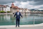 Guido Graf anlässlich des 2. Wahlgangs der Luzerner Regierungsratswahlen. (Bild: Urs Flüeler / Keystone, Luzern, 19. Mai 2019)