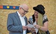 Blick in die Proben des Stücks «Hochmuet chond vor em Fall». Bild: Yvonne Imbach (3. September 2019)