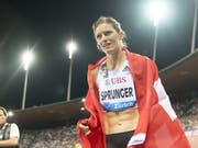 Lea Sprunger zeigte sich vor den Weltmeisterschaften in guter Form (Bild: KEYSTONE/JEAN-CHRISTOPHE BOTT)