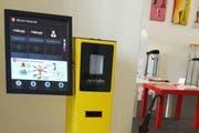 Der ursprüngliche Standort des Kryptoautomaten in der Wechselstube UMC Change in Luzern. (Bild: PD)