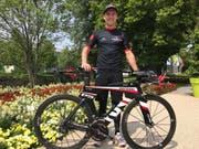 Für einmal brachte Philipp Gubler die Velostrecke kein Glück, die Aufholjagd auf zwei Rädern wurde durch einen Sturz abrupt gebremst. (Bild: PD)