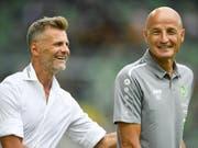 Freuen sich Sportchef Alain Sutter und Trainer Peter Zeidler schon bald über die Leistungen von Stürmer Demirovic? (Bild: Keystone/GIAN EHRENZELLER)