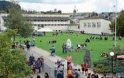 Vor drei Jahren fand letztmals ein kantonales Jugendturnfest im Toggenburg statt. Kirchberg war damals Gastgeberort. (Bild: Beat Lanzendorfer)