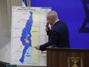 Will im Falle seiner Wiederwahl das Jordantal im Westjordanland annektieren lassen: Israels Ministerpräsident Benjamin Netanjahu. (Bild: KEYSTONE/EPA/ABIR SULTAN)