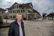 Gemeindepräsident Franz Zemp im Dorfzentrum von Buttisholz. (Bild: Pius Amrein, 27. März 2018)