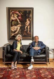 Zusammen sind sie 157 Jahre alt: Das Autorenduo Helga S. Giger und Peter Gross. (Bild: Carmen Wüest)