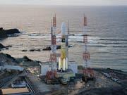 Raketen-Start verschoben: Nahe der Abschussrampe auf der südwestjapanischen Insel Tanegashima ist ein Brand ausgebrochen. (Bild: KEYSTONE/EPA JAXA/JAXA / HANDOUT)