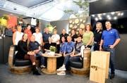 Die Gamser Gewerbetreibenden stellen sich gerne vor, links sitzend GIV-Präsidentin Susanne Schulz. (Bild: Hansruedi Rohrer)