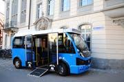 So könnte der Ortsbus aussehen, wenn die Weinfelder Bevölkerung Ja sagt zu einer fünfjährigen Testphase. (Bild: Sabrina Bächi)