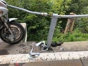 Die Unfallstelle auf der Klausenpassstrasse. (Bild: Kantonspolizei Uri)