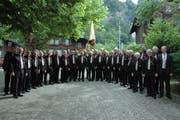 Der Sängerbund am Gesangsfest in Meiringen. (Bild: PD)