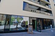 Der Eingang zum neuen Geschäft an der Piazza Cisternino. (Bild: Donato Caspari)