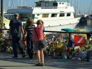 Beim Brand eines Tauchschiffs in Kalifornien kamen vor eineinhalb Wochen 34 Menschen ums Leben. (Bild: KEYSTONE/AP/MARK J. TERRILL)