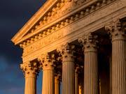 Gebäude des Obersten Gerichts der USA in Washington. (Bild: KEYSTONE/AP/J. SCOTT APPLEWHITE)