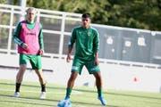 Pedro Teixeira trainiert bereits auf dem Krienser Kleinfeld. (Bild: PD)
