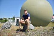 Anlässlich der Energy Tour in Weinfelden kann der Gas-Kugelspeicher der Technischen Betriebe besichtigt werden. (Bild: Mario Testa)