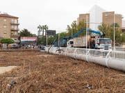 Die Überflutungen durch heftige Regenfälle in Spanien haben ein drittes Todesopfer gefordert. (EPA/Marcial Guillen) (Bild: KEYSTONE/EPA EFE/MARCIAL GUILLEN)