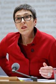 Barbara Gysi, Präsidentin des Kantonalen Gewerkschaftsbunds St.Gallen. (Bild: KEYSTONE/Peter Klaunzer)