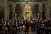 Dem Chorgesang eine öffentliche Stimme geben und den Austausch mit dem Publikum fördern will die St.Galler Chornacht vom Samstag. Im Bild der Tablater Konzertchor bei einem Auftritt in der Kirche St.Maria Neudorf. (Bild: Urs Jaudas - 22. Februar 2014)
