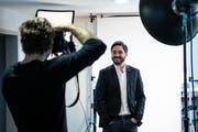 Investiert 300 000 Franken: Der Aargauer SP-Nationalrat und Ständeratskandidat Cédric Wermuth. Ein grosser Teil dieser Summe kommt von Kleinspendern. (KEYSTONE/Peter Schneider)