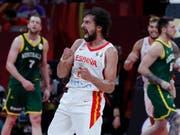 Am Ende jubelten im WM-Halbfinal nicht die Australier, sondern die Spanier (hier Sergio Llull) (Bild: KEYSTONE/AP/ANDY WONG)