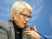 Wird für ihr Lebenswerk ausgezeichnet: Carla Del Ponte erhält den «Prix Courage Lifetime Award» für ihren unermüdlichen Kampf gegen Kriegsverbrecher. (Bild: KEYSTONE/SALVATORE DI NOLFI)